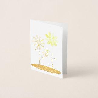 Tarjeta Con Relieve Metalizado Impresión caprichosa del efecto metalizado de oro