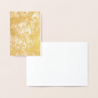 Tarjeta Con Relieve Metalizado Impresión del efecto metalizado de oro de las