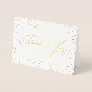 Tarjeta Con Relieve Metalizado La escritura elegante elegante de la caligrafía le