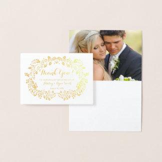 Tarjeta Con Relieve Metalizado La foto real floral del boda del efecto metalizado