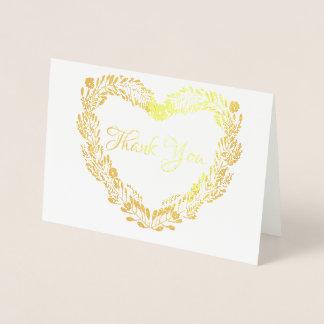 Tarjeta Con Relieve Metalizado La guirnalda real del corazón del efecto