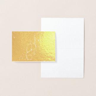 Tarjeta Con Relieve Metalizado la menta, oro, veteó, moderno, de moda, elegante,