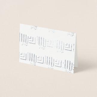Tarjeta Con Relieve Metalizado Rectángulos modelados