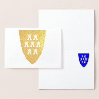 Tarjeta Con Relieve Metalizado Siebenbürgen Saxonians