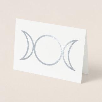 Tarjeta Con Relieve Metalizado Símbolo de la diosa de Falln