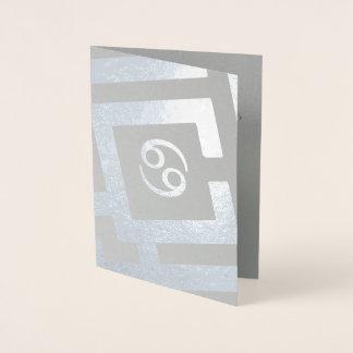 Tarjeta Con Relieve Metalizado Texto astrológico del personalizado de la