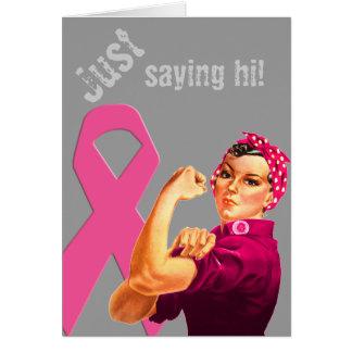 Tarjeta Conciencia Rosie del cáncer de pecho el remachador