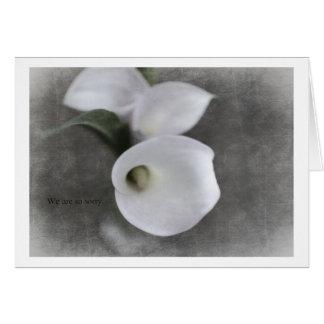 Tarjeta Condolence Card with Callas