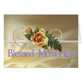 Tarjeta Condolencia bendecida de la madre de las memorias