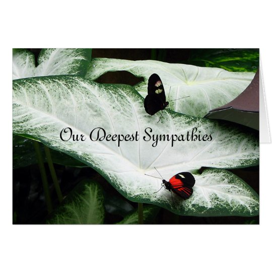 Tarjeta Condolencia - Butterfles negro - Caladium