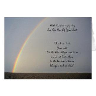 Tarjeta Condolencia del arco iris - pérdida de hijo