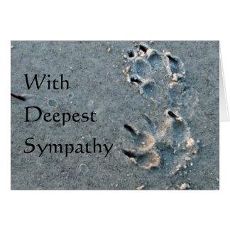 Tarjeta Condolencia del mascota - perro