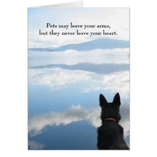 Tarjeta Condolencia del perro - los mascotas pueden dejar