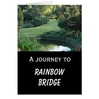 Tarjeta Condolencia del perro - puente del arco iris