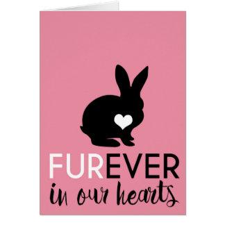 Tarjeta Condolencia el | Furever del conejo del mascota en