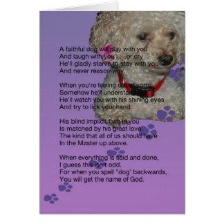 Tarjeta condolencia para el perro