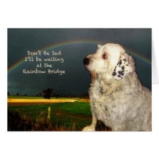 Tarjeta Condolencia para la pérdida de perro casero