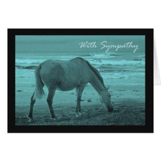 Tarjeta Condolencia, pérdida de caballo del mascota