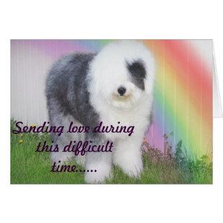 Tarjeta Condolencia - pérdida de un mascota