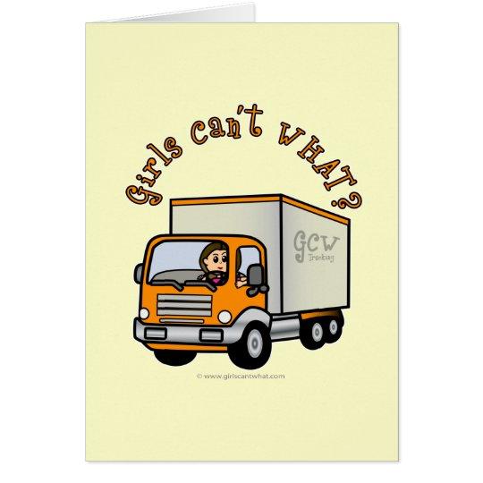 Tarjeta Conductor de camión de sexo femenino ligero