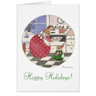 Tarjeta ¡conejito de la hornada buenas fiestas!