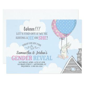 Tarjeta Conejito + El género de los globos revela la