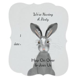 Tarjeta Conejo de conejito animal del arbolado lindo