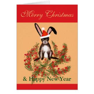 Tarjeta Conejo del navidad