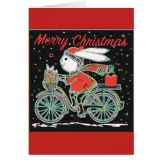 Tarjeta Conejo en una bicicleta - Chri de ciclo de las