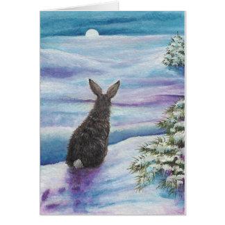 Tarjeta Conejos de la maravilla del invierno por la
