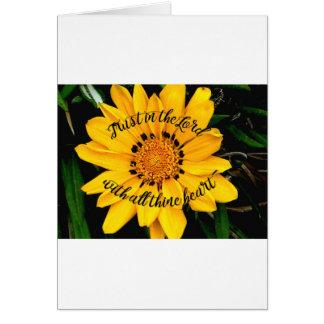 Tarjeta Confianza en el señor Bright Yellow Flower
