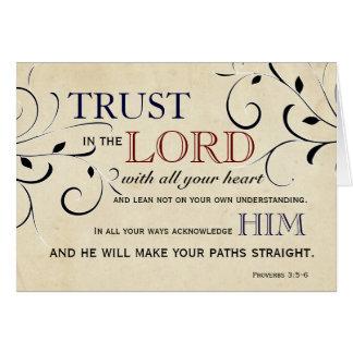 Tarjeta Confianza en el señor Encouragement Card