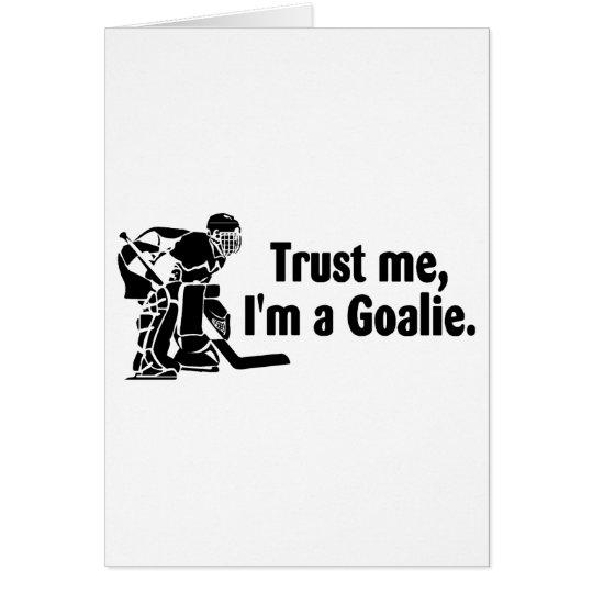 Tarjeta Confíeme en Im un portero (el hockey)
