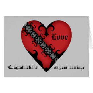 Tarjeta Congrats medievales góticos románticos del boda