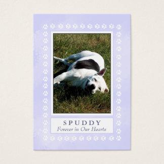 Tarjeta conmemorativa del mascota - azul divino
