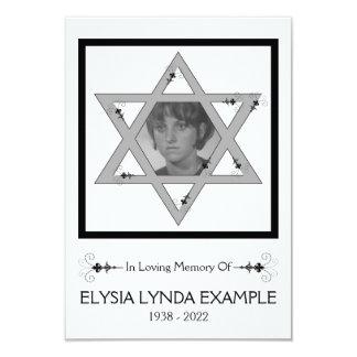 tarjeta conmemorativa judía invitación 8,9 x 12,7 cm