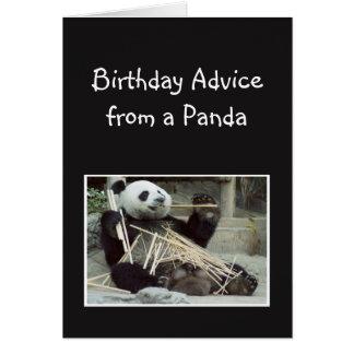 Tarjeta Consejo del cumpleaños de la diversión del humor