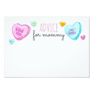 Tarjeta Consejo del día de San Valentín del corazón del