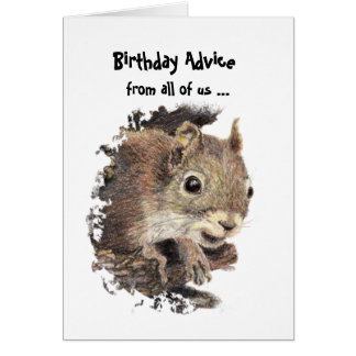 Tarjeta Consejo divertido del cumpleaños de la edad