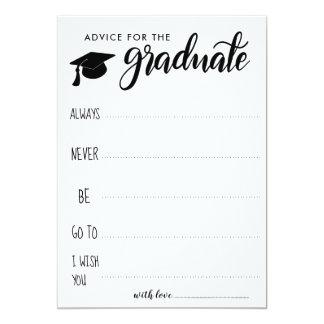 Tarjeta Consejo para el Minimalist graduado del |