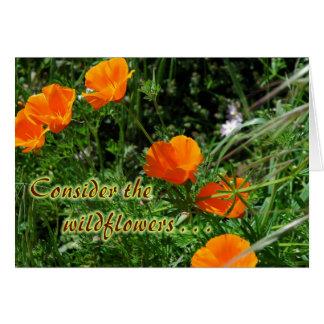 Tarjeta Considere los Wildflowers estímulo