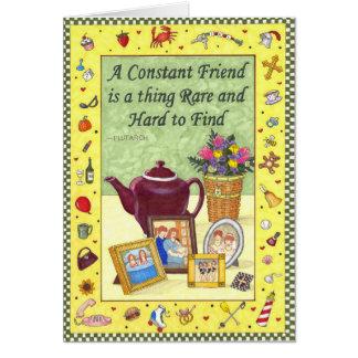 Tarjeta constante de la amistad de la amistad