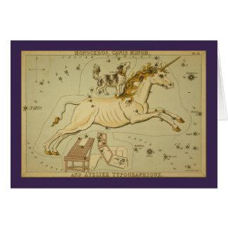 Tarjeta Constelación de Monoceros (unicornio)