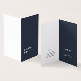 Tarjeta Consultor blanco azul mínimo moderno