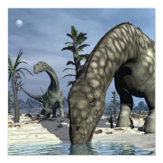 Tarjeta Consumición del dinosaurio del Argentinosaurus