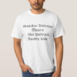 Tarjeta contraria de la difamación/del racismo/de camiseta