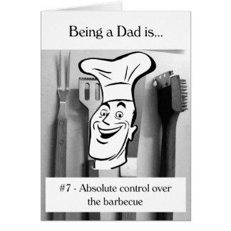 Tarjeta Control absoluto sobre la barbacoa