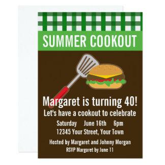 Tarjeta Cookout del verano