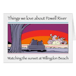Tarjeta Copia del río de Powell
