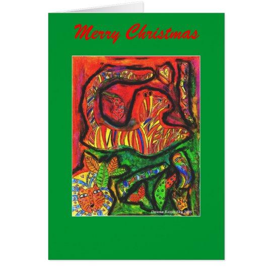 Tarjeta Copia esotérica de la selva, Felices Navidad